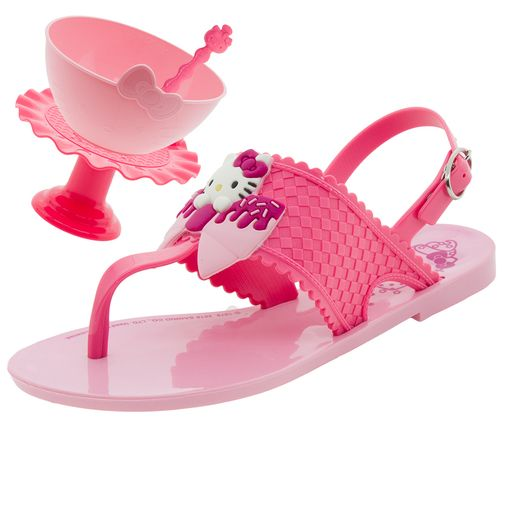 f74ff87d6 Código: 3290375-008. Sandália Infantil Feminina Hello Kitty Sweet Rosa  Grendene ...
