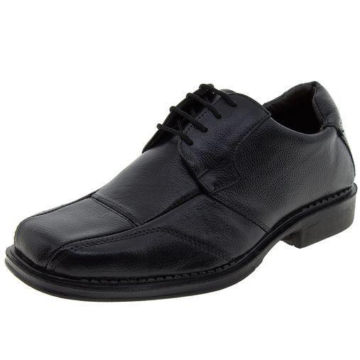 19007aa00 Sapato Masculino Social Preto Parthenon - JF207 - Clovis Atacado