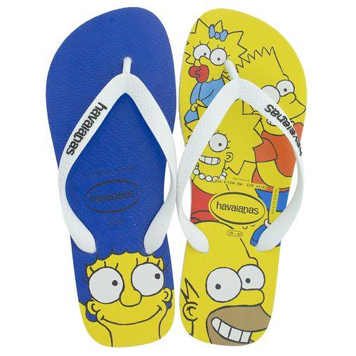 582874c56 Código: 0090889-074. Chinelo Masculino Simpsons Branco/Amarelo Havaianas ...