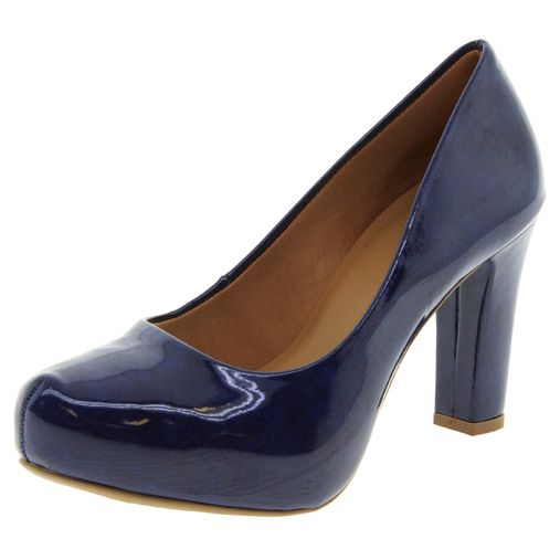 ef8fcf3541 Sapato Feminino Salto Alto Azul Mixage - 1586650 - Clovis Atacado