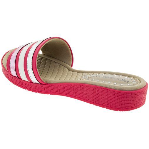 5a2589e51a Tamanco Feminino Salto Baixo Pink Piccadilly - 561008 - Clovis Atacado