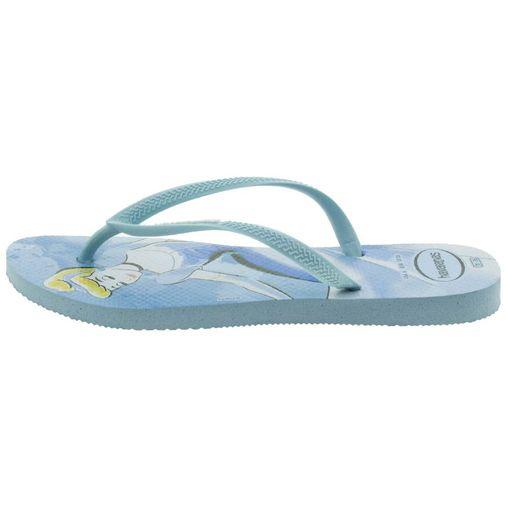 5f616d440c 0090450-009. Chinelo Feminino Slim Princesas Azul Havaianas - 4135045 - 12  Pares. 1